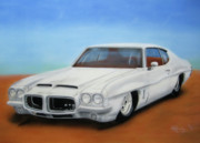 The Tiger Mixed Media Posters - 1972 Pontiac GTO Poster by Thomas J Herring