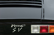Tail Photos - 1973 Lamborghini Miura SV Berlinetta Taillight Emblem by Jill Reger