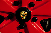 Classic Porsche 911 Photos - 1973 Porsche 911 RS Wheel Emblem by Jill Reger