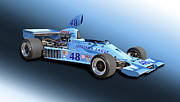 Indy Car Prints - 1975 Gurney Eagle F5000 Indy Race Car Print by Tad Gage