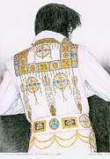 Presley Painting Originals - 1975 Indian Chief Suit by Rob De Vries
