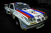 Phil Motography Clark Framed Prints - 1976 Chevrolet Monza IMSA Framed Print by Phil
