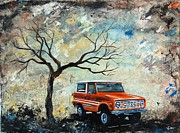 1976 Paintings - 1976 Ford Bronco  by Sheri Wiseman