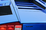 Tail Photos - 1976 Lamborghini Countach LP400 Taillight Emblem by Jill Reger