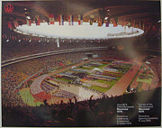 Stadium Drawings Originals - 1976 Montreal Olympics Poster - Opening Panaroma Shot - small by Cojo