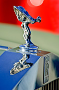 Automobile Abstract Photography Prints - 1976 Rolls Royce Silver Shadow Hood Ornament Print by Jill Reger