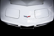 Racer Framed Prints - 1976 White Corvette Framed Print by Rich Franco