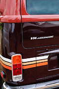 Champagne Photo Prints - 1978 Volkswagen VW Champagne Edition Bus Taillight Emblem Print by Jill Reger