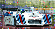 Sport Mixed Media Framed Prints - 1982 Lancia LC1 Martini Framed Print by Yuriy  Shevchuk