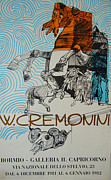 1980s Drawings - 1982 Original Cremonini Exhibition Poster - Galleria Capricorno by Walter Cremonini