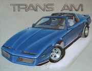 Car Drawings Prints - 1982 Trans Am Print by Paul Kuras