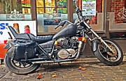 Seahawks Posters - 1983 Honda Shadow VT 750CC  Poster by Greg Sigrist