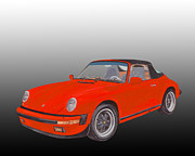 Basic Paintings - 1984 Porsche 911 Cabriolet  by Jack Pumphrey