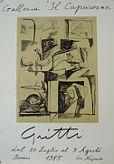 1980s Drawings - 1985 Original Gritti Exhibition Poster - Galleria Capricorno by Gritti