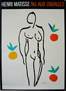 1980s Drawings - 1988 Modern Art Henri Matisse Print - Nu Aux Oranges by Henri Matisse After