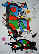 1980s Drawings - 1988 Spanish Surrealist Exhibition Poster - Obra De Joan Miro by Joan Miro