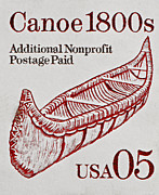 Bill Owen - 1990 Canoe 1800s Stamp