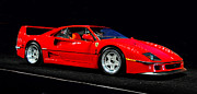 Howard Koby Posters - 1990 Ferrari F40 Poster by Howard Koby