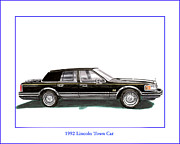1992 Lincoln Town Car Print by Jack Pumphrey