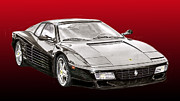 Italian Sports Cars Prints - 1994 Ferrari F 512 R Print by Jack Pumphrey
