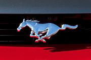 1994 Ford Mustang Corbra Custom Convertible Emblem Print by Jill Reger