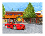 Because Prints - 1995 Ferrari five twelve m factory delivey Print by Jack Pumphrey