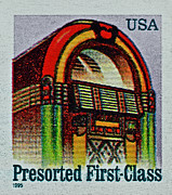 First-class Posters - 1995 Jukebox Stamp Poster by Bill Owen