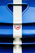 Images Of Cars Prints - 1998 Dodge Viper GTS-R Grille Emblem Print by Jill Reger