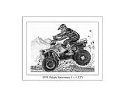 Dirt Drawings - 1999 Polaris Off Road  by Jack Pumphrey
