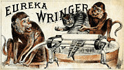 Washing Machine Painting Posters - 19th C. Eureka Wringer Poster by Historic Image