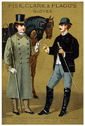 Historicimage Paintings - 19th C. Mens Gloves Poster 1 by Historic Image