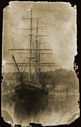 Grand Memories Posters - 19th Century Schooner Poster by John Haldane