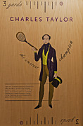 Hampton Court  Mixed Media Posters - 19th Century Tennis Player 3 Poster by Maj Seda