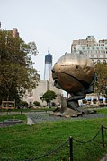 Wtc Digital Art Metal Prints - 1W T C and the W T C FOUNTAIN SPHERE Metal Print by Rob Hans