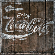 Coca-cola Sign Art -  Coca Cola Sign Barn Wood by John Stephens