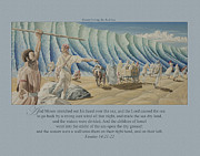 King James Framed Prints - 125 Moses Parting the Red Sea Framed Print by James Robinson