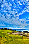 Us Open Art - #16 at Chambers Bay Golf Course - Location of the 2015 U.S. Open Championship by David Patterson