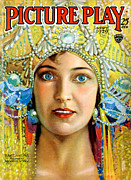 Cinema Drawings Prints - 1920s Usa Picture Play Magazine Cover Print by The Advertising Archives