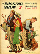 Featured Metal Prints - 1930s Uk The Passing Show Magazine Cover Metal Print by The Advertising Archives
