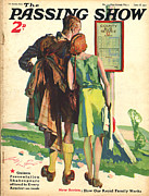 Walking Drawings Posters - 1930s,uk,passing Show,magazine Cover Poster by The Advertising Archives