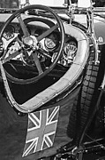 Supercharged Prints - 1931 Bentley 4.5 Liter Supercharged Le Mans Steering Wheel Print by Jill Reger