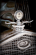 Ford Model A Framed Prints - 1931 Model A Ford Deluxe Roadster Hood Ornament Framed Print by Jill Reger
