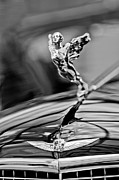 Stationary Framed Prints - 1934 Cadillac V-16 452 Two-Passenger Stationary Coupe Hood Ornament and Emblem Framed Print by Jill Reger