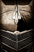 Collector Hood Ornament Posters - 1934 Oldsmobile Hood Ornament Poster by Jill Reger