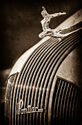 1935 Posters - 1935 Pontiac Sedan Hood Ornament Poster by Jill Reger