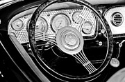 1936 Photos - 1936 Auburn Speedster Replica Steering Wheel by Jill Reger