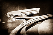 Collector Hood Ornament Metal Prints - 1937 Chevrolet 2 Door Sedan Hood Ornament Metal Print by Jill Reger