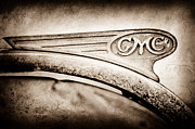 Motor Metal Prints - 1938 GMC Hood Ornament Metal Print by Jill Reger