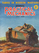 Ww2 Drawings Posters - 1940s Uk Practical Mechanics Magazine Poster by The Advertising Archives