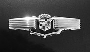 Caddy Framed Prints - 1941 Cadillac Emblem Framed Print by Jill Reger